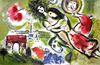 MARC CHAGALL (After) Romeo and Juliet Print, I397 of 500