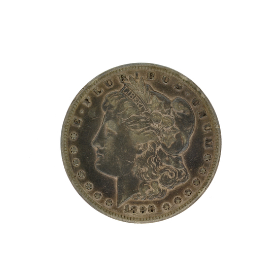 1890-CC Morgan Silver Dollar Coin