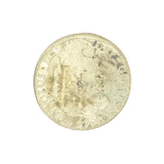Extremely Rare Early Date 1793 Portrait Reales America's First Silver Dollar Coin -Great Investment-