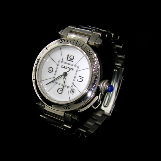 *Cartier Paris Quartz Swiss Stainless Steel Watch -P-