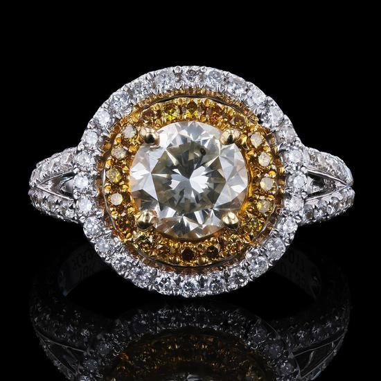 APP: 42.5k *1.55ct SI2 CLARITY CENTER Diamond Ring (1.79ctw Diamonds) EGL USA CERTIFIED (Vault_R9_25