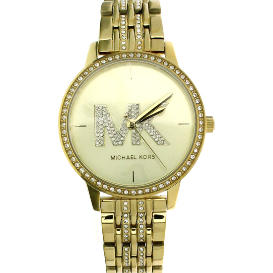 New Michael Kors Style Melissa Gold Stainless Steel Back Ladies Watch