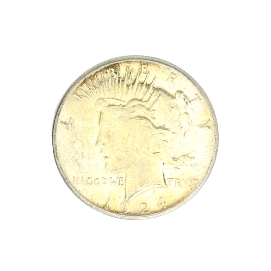 1924-S U.S. Peace Type Silver Dollar Coin