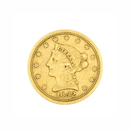 Rare 1852 $2.50 U.S. Liberty Head Gold Coin
