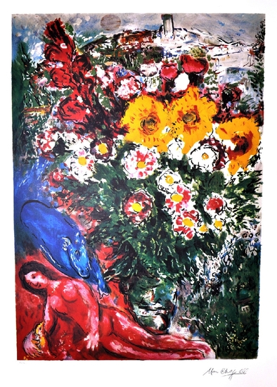 MARC CHAGALL (After) Les Soucis Print, 444 of 500