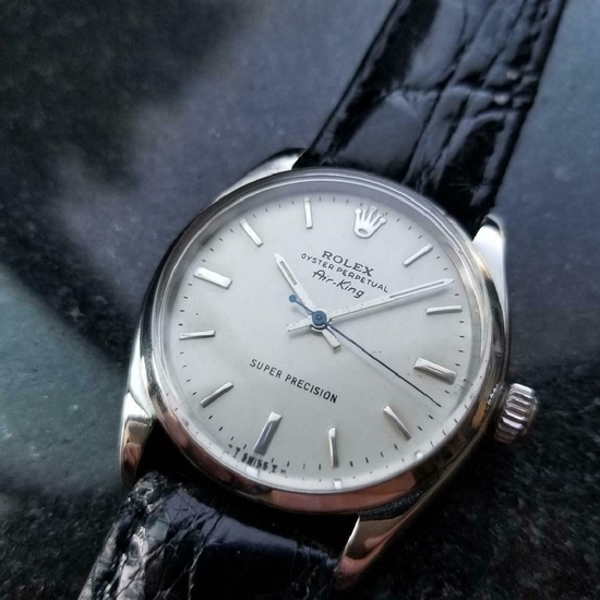 *ROLEX Men's Oyster Perpetual Air-King 5500 Automatic 1958 Swiss Vintage Watch