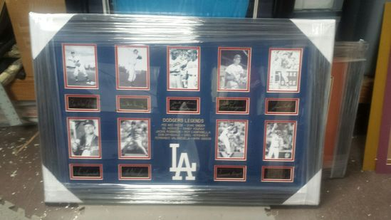 Dodgers Legends - Plate Signatures