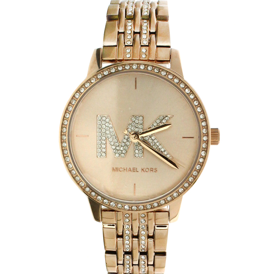 New Michael Kors Style Melissa Rose Gold Stainless Steel Back Ladies Watch