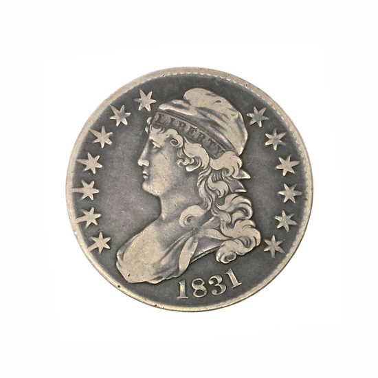 Rare 1831 Capped Bust Half Dollar Coin