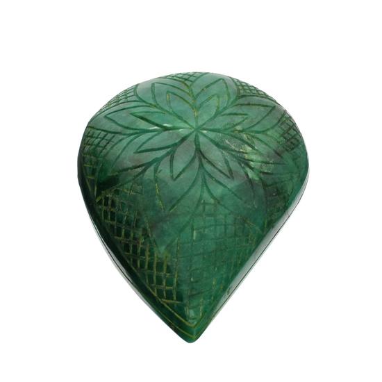 APP: 8.2k 1,639.00CT Pear Cut Carved Green Beryl Emerald Gemstone