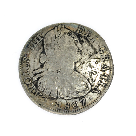 1807 Eigth Reales America's First Silver Dollar Coin -Great Investment-