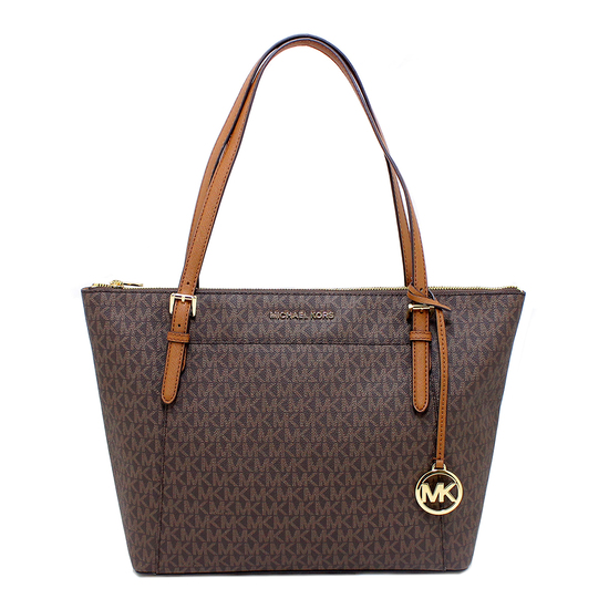 Gorgeous Brand New Never Used Brown Michael Kors Large TZ Tote Bag Tag Price $398