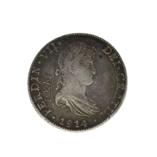 1814 Eigth Reales America's First Silver Dollar Coin -Great Investment-