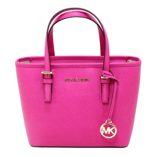 Gorgeous Brand New Never Used Fuschia Crossbody Carryall Top Zip Tote Handbag Tag Price $268.00