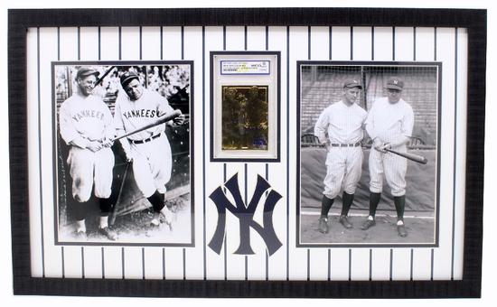 Rare Ruth / Gehrig 23kt. Gold Anniversary Baseball Card Graded Gem – MT 10 – Great Investment -PNR-