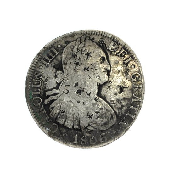 1806 Eigth Reales America's First Silver Dollar Coin -Great Investment-