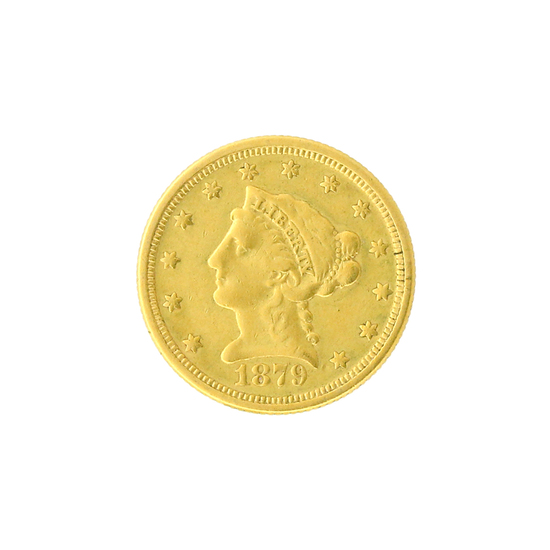Extremely Rare 1879 $2.50 U.S. Liberty Head Gold Coin