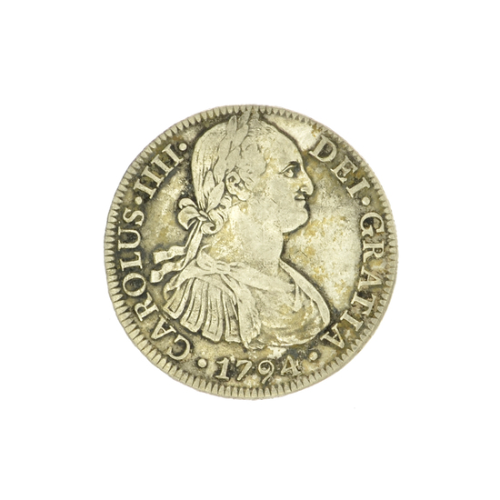 Extremely Rare Early Date 1794 Portrait Reales America's First Silver Dollar Coin -Great Investment-