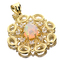 APP: 3.1k 14 kt. Yellow and White Gold, 2.37CT Crystal Opal and Topaz Pendant