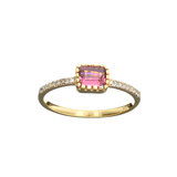 APP: 0.8k Fine Jewelry Designer Sebastian 14 KT Gold, 0.58CT Tourmaline And Diamond Ring