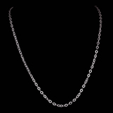 *Fine Jewelry 14 KT White Gold, 3.3GR, 18'' Corrugated Oval Chain (GL 3.3-10)
