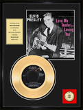 ELVIS PRESLEY ''Love Me Tender'' Gold Record