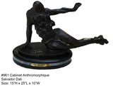 *Rare Limited Edition Numbered Bronze Dali ''''Cabinet Anthromorphique'''' '''' 15'''' H x 25'''' L