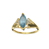 APP: 0.8k Fine Jewelry 10kt. Yellow/White Gold, 1.10CT Blue Topaz And Diamond Ring