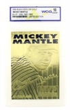 Rare Mickey Mantle 23kt. Gold Anniversary Card Grated Gem – MT 10 – Great Investment