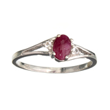APP: 0.7k Fine Jewelry Designer Sebastian 0.40CT Ruby And Topaz Sterling Silver Ring