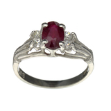 APP: 0.5k Fine Jewelry Designer Sebastian, 1.27CT Ruby And White Topaz Sterling Silver Ring