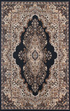 Gorgeous 5x8 Emirates (1513) Black Rug  Plush, High Quality Made in Turkey (No Rugs Sold Out Of Coun
