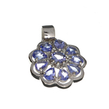 APP: 1.9k Fine Jewelry 1.80CT Oval Cut Tanzanite And Platinum Over Sterling Silver Pendant