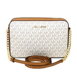 Gorgeous Brand New Never Used Vanilla W/Acorn Michael Kors Large East West Crossbody Tag Price $248.