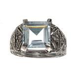 APP: 2.3k Fine Jewelry 3.83CT Beryl Aquamarine And Topaz Sterling Silver Ring