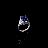 APP: 13.2k Fine Jewelry 14 KT White Gold, 6.43CT Tanzanite And Diamond Ring