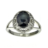 APP: 0.5k Fine Jewelry Designer Sebastian, 1.85CT Blue Sapphire And Sterling Silver Ring