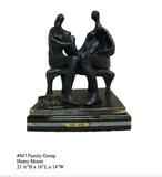 *Rare Limited Edition Numbered Bronze Henry Moore ''''Family Group'''' '''' 21.5'''' H x 16'''' L x