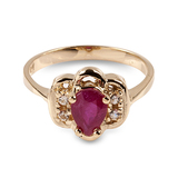 APP: 1.1k 14 kt. Gold, 1.30CT Ruby And White Sapphire Ring