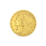Rare 1914-D $2.50 U.S. Indian Head Gold Coin