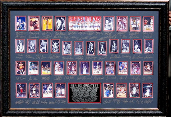 NBA 60 Greatest! - Plate Signatures