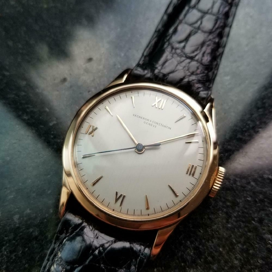 *VACHERON CONSTANTIN Men's 18k Rose Gold Geneve 1947 Swiss Dress Watch