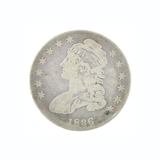 Extremely Rare 1836 U.S. Capped Bust Half Dollar Coin Great Investment!