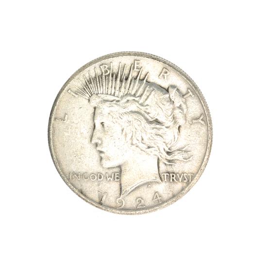 1924 U.S. Peace Type Silver Dollar Coin