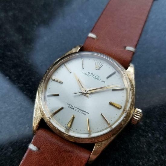 *ROLEX Men's 18K Rolex Oyster Perpetual 1022 Automatic 1963 Swiss Vintage Watch