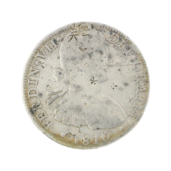 Extremely Rare 1810 Eight Reales American First Silver Dollar Coin Great Investment
