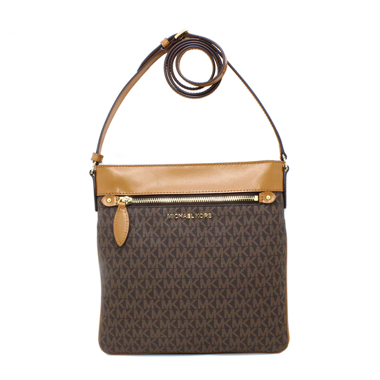 Gorgeous Brand New Never Used Brown/Acorn Michael Kors Large NS Crossbody Bag Tag Price $248