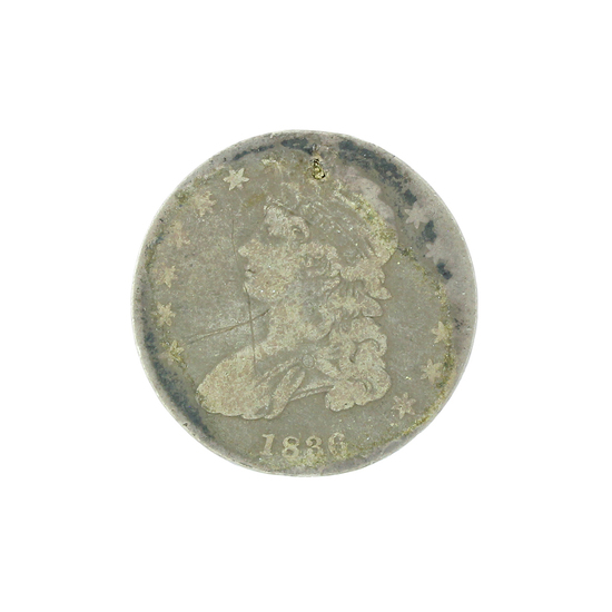 Extremely Rare 1836 Capped Bust Half Dollar Coin