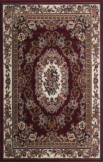 Gorgeous 5x8 Emirates (1522) Burgandy Rug  Plush, High Quality Made in Turkey (No Rugs Sold Out Of C