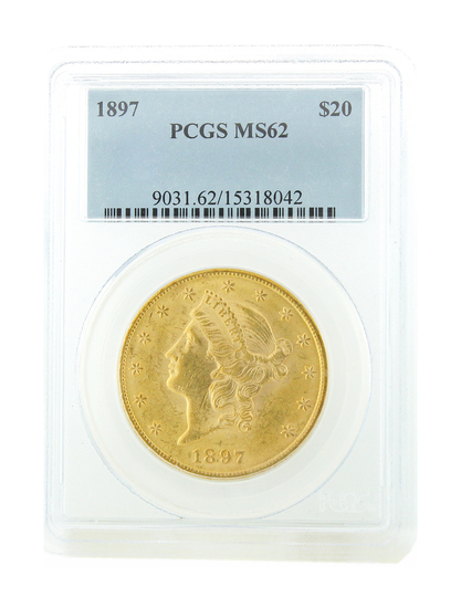 *Extremely Rare 1897 $20 U.S. Liberty Head Gold Coin (DF)